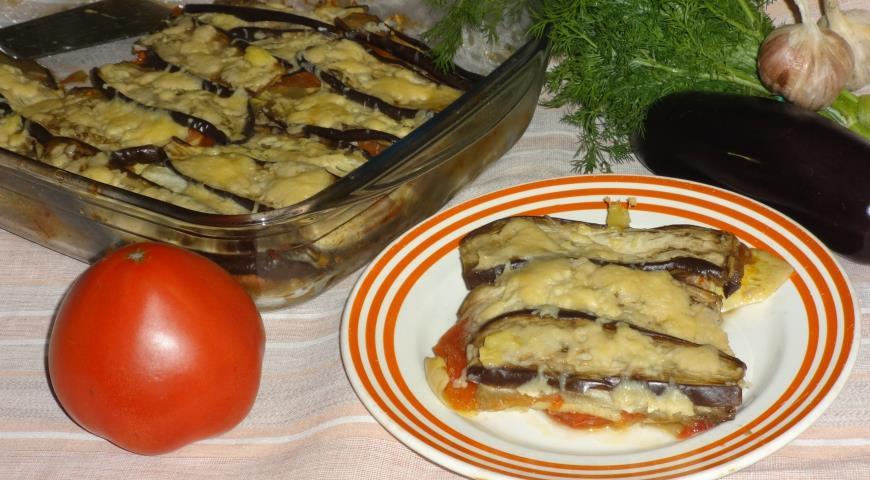 Рецепт запеканки из кабачков и баклажанов