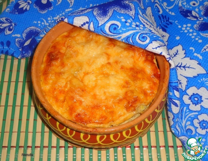 Рецепт: Запеканка из баклажана и кабачка