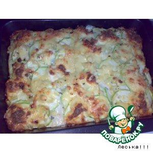 Рецепт: Запеканка из картошки и кабачков