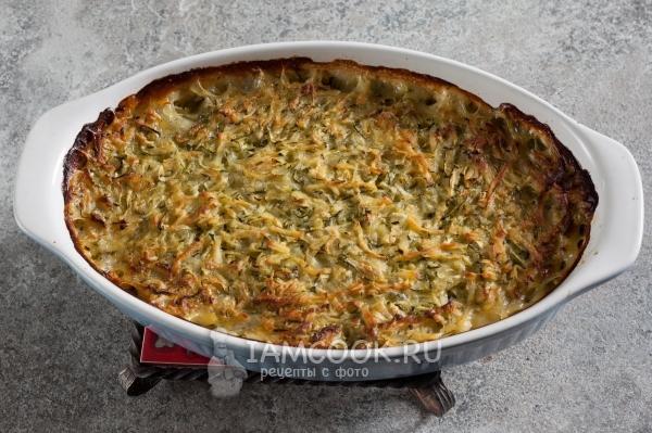 Готовая запеканка из кабачков и картофеля в духовке