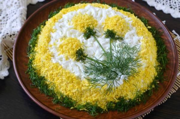 салат одуванчик рецепт